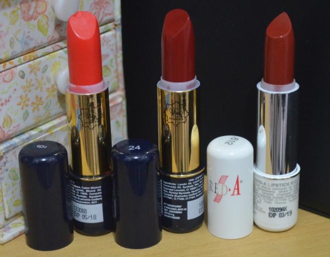 [Review] Viva Lipstick no. 6 & 24 dan Red-A Lipstick no. 612